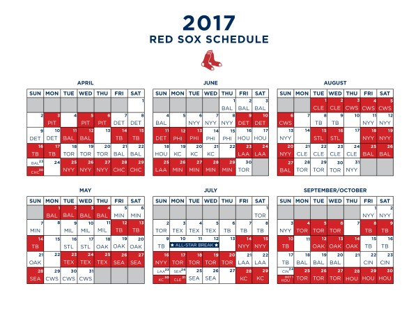 red sox schedule # 28