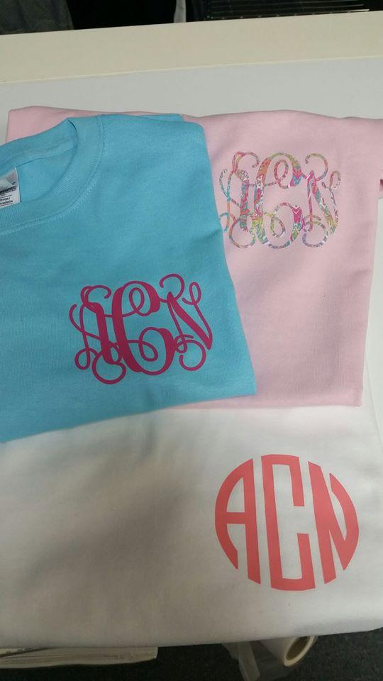monogrammed t shirt combo