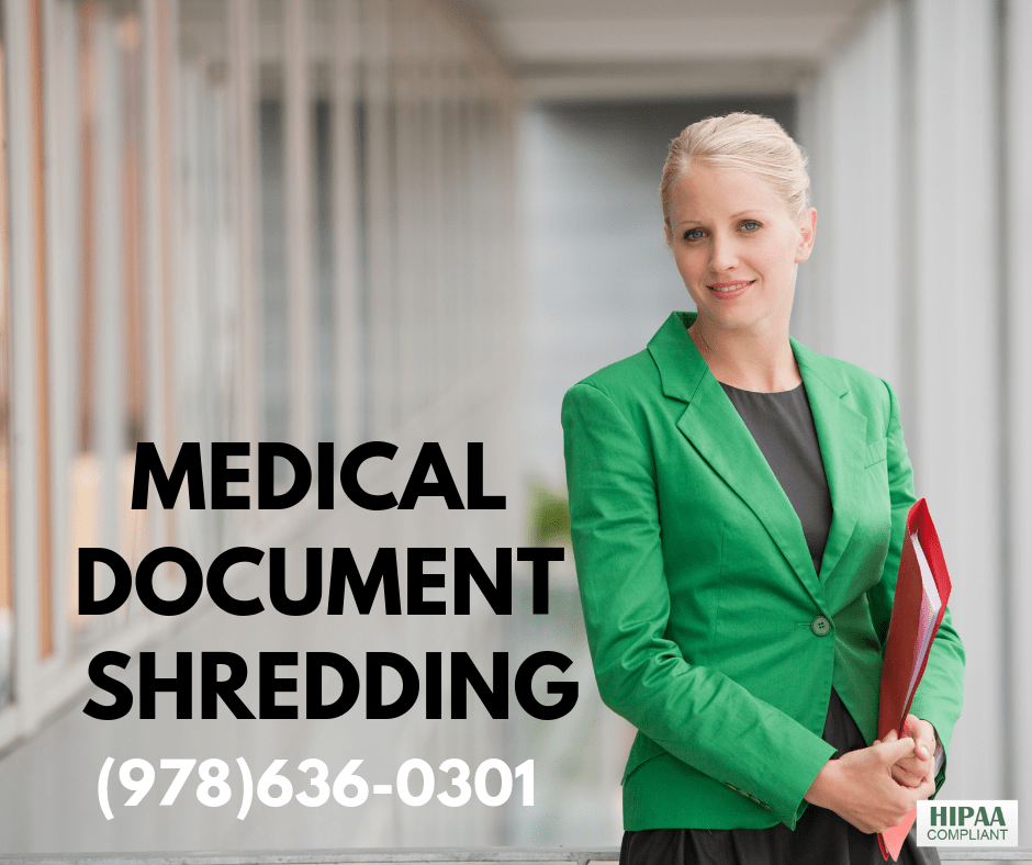 Boston medical documents shredding