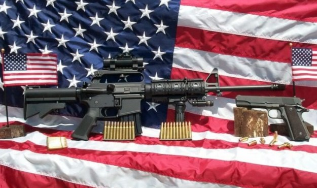 US_Flag_and_Guns