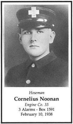 Photo of Hoseman Cornelius Noonan, Engine Company 33, LODD 2/10/1938.