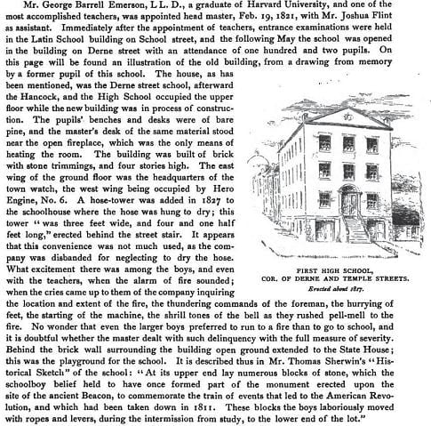 Description of the firehouse on Derne Street.