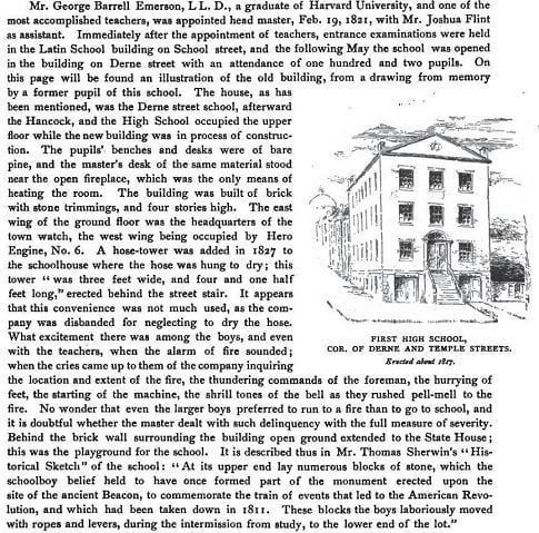 Description of the firehouse on Derne Street.