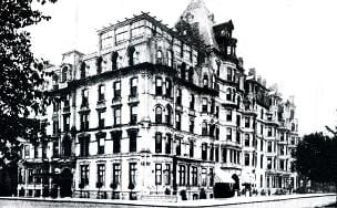 The Hotel Vendome, Commonwealth Av. & Dartmouth St., c. 1920.