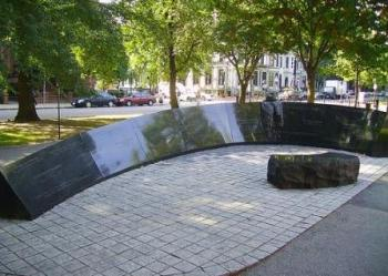 The Vendome Memorial on the Commonwealth Avenue Mall at Dartmouth Street, Back Bay, 2008.