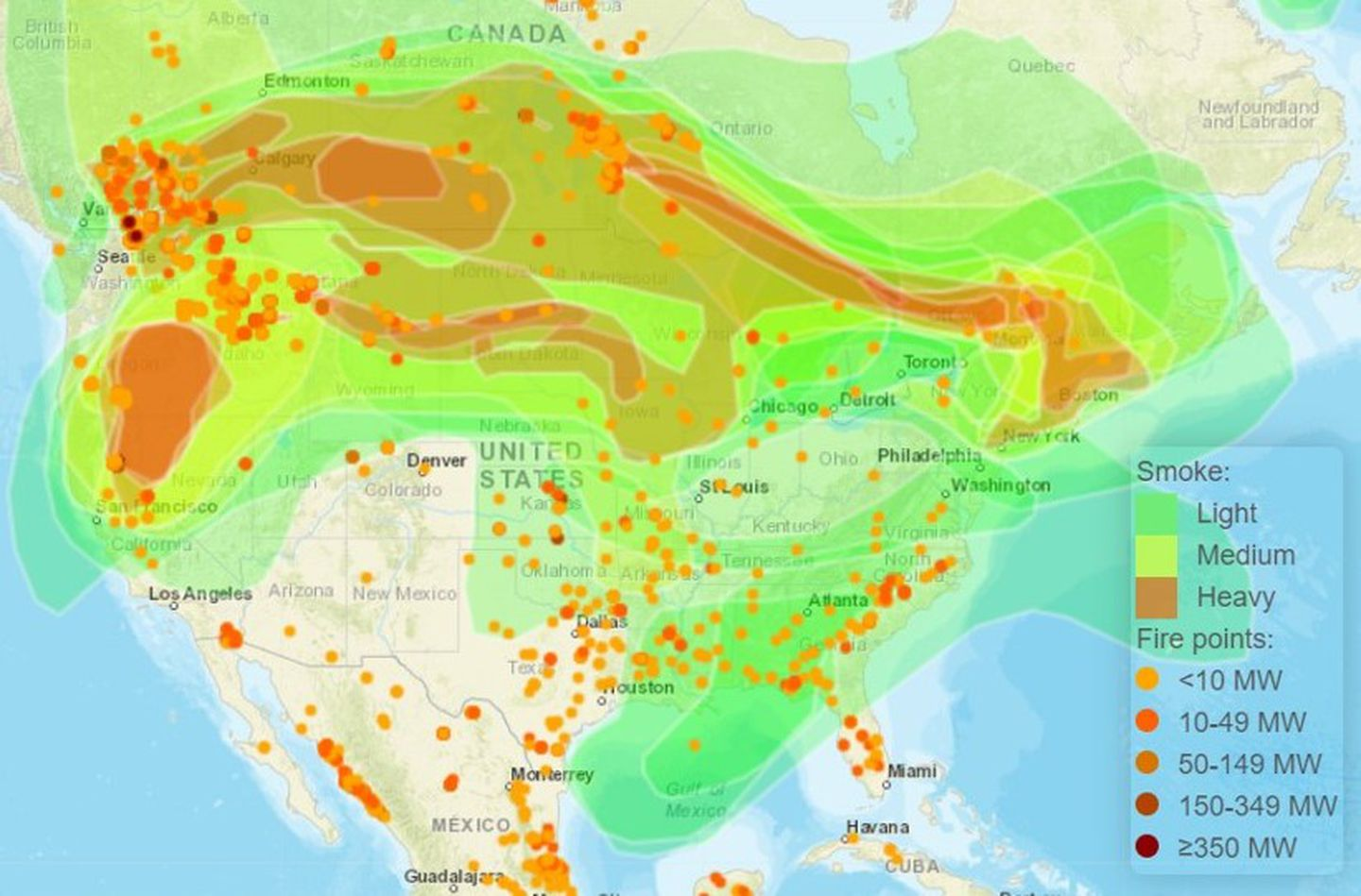 This map contains four different types of data: New England S Air Quality Is Worse Than Anywhere In Us Besides California The Boston Globe