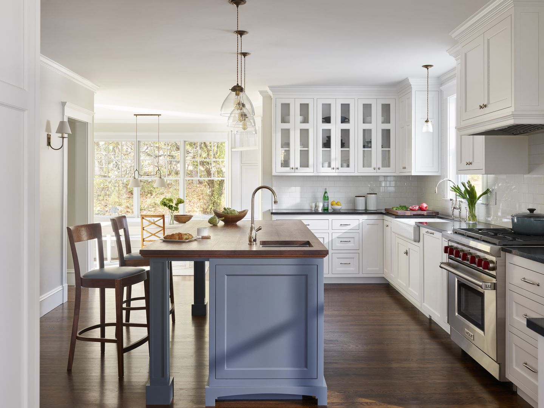 Home Design Ideas Touches Of Walnut Warm Up A Classic White Kitchen The Boston Globe