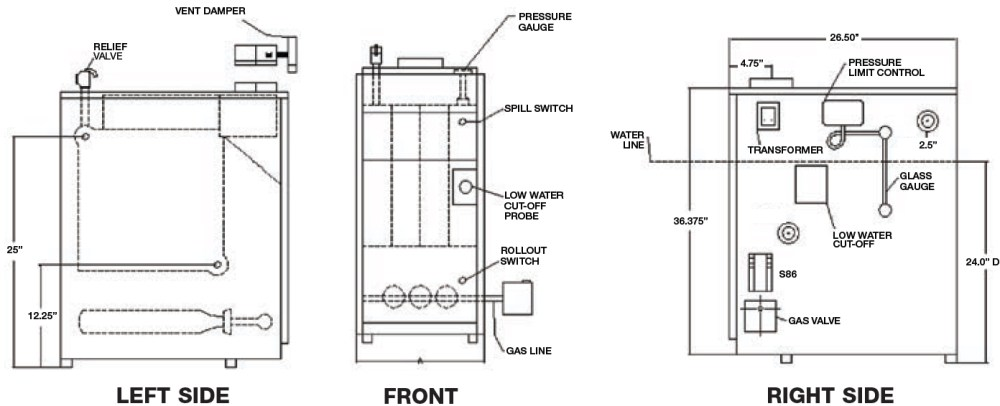 medium resolution of utica uh1604hsid gas fired steam boiler 112 000 btus rh bostonheatingsupply com weil mclain boiler schematic diagram residential boiler wiring diagram