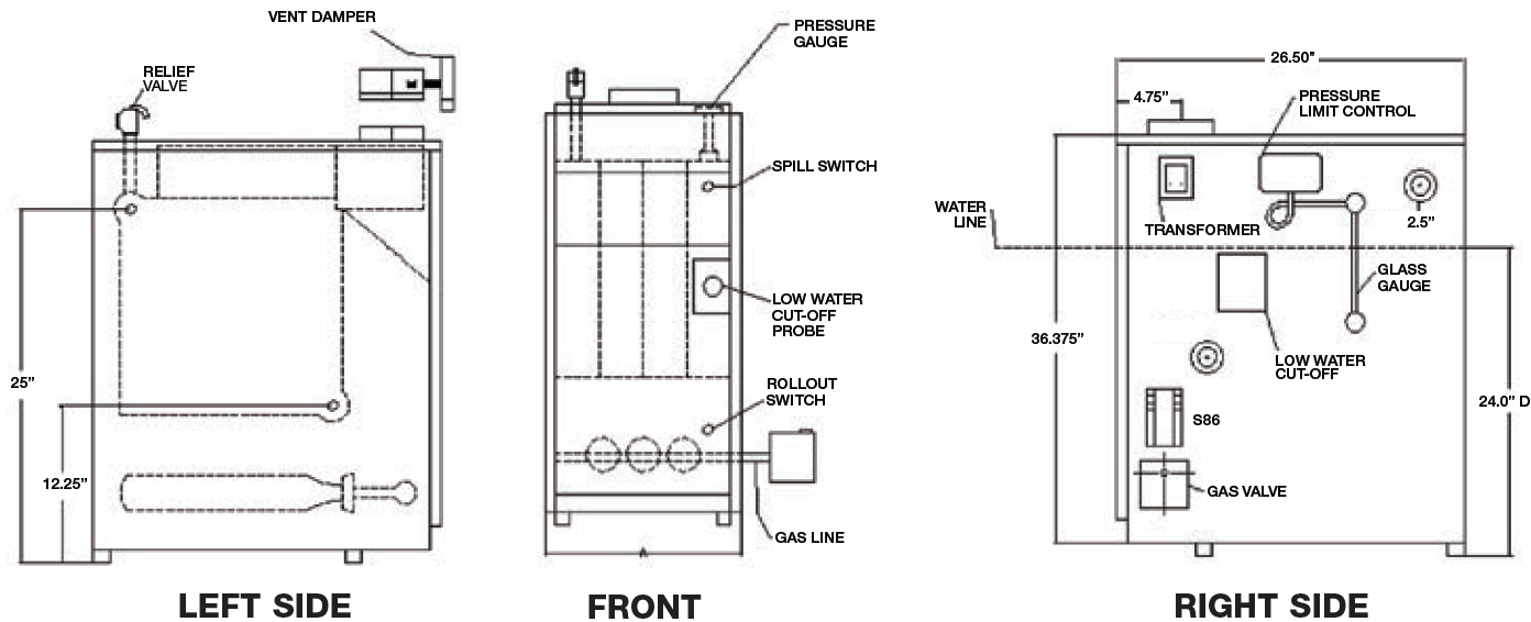 hight resolution of utica uh1604hsid gas fired steam boiler 112 000 btus rh bostonheatingsupply com weil mclain boiler schematic diagram residential boiler wiring diagram