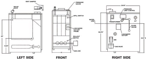 small resolution of utica uh1604hsid gas fired steam boiler 112 000 btus rh bostonheatingsupply com weil mclain boiler schematic diagram residential boiler wiring diagram