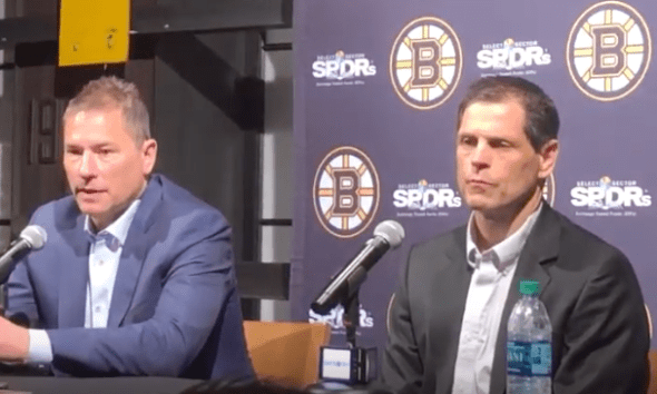 Don Sweeney and Bruce Cassidy