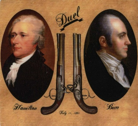 Image result for aaron burr and alexander hamilton