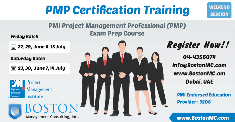 PMP Project Management Professional Weekend Session Staturday Classes in Dubai PMI Endorsed Training Center and Institute - PMP Weekend Classes Saturday Friday in Dubai