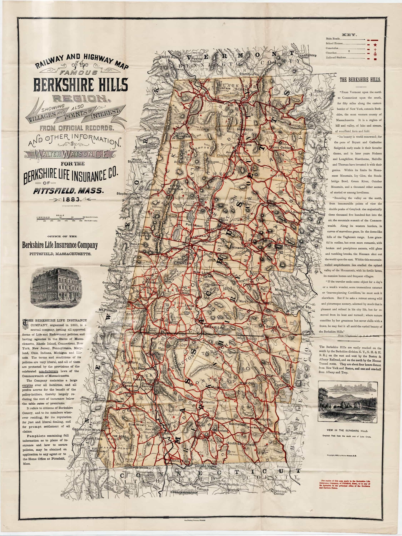 Map Of Berkshires Ma : berkshires,