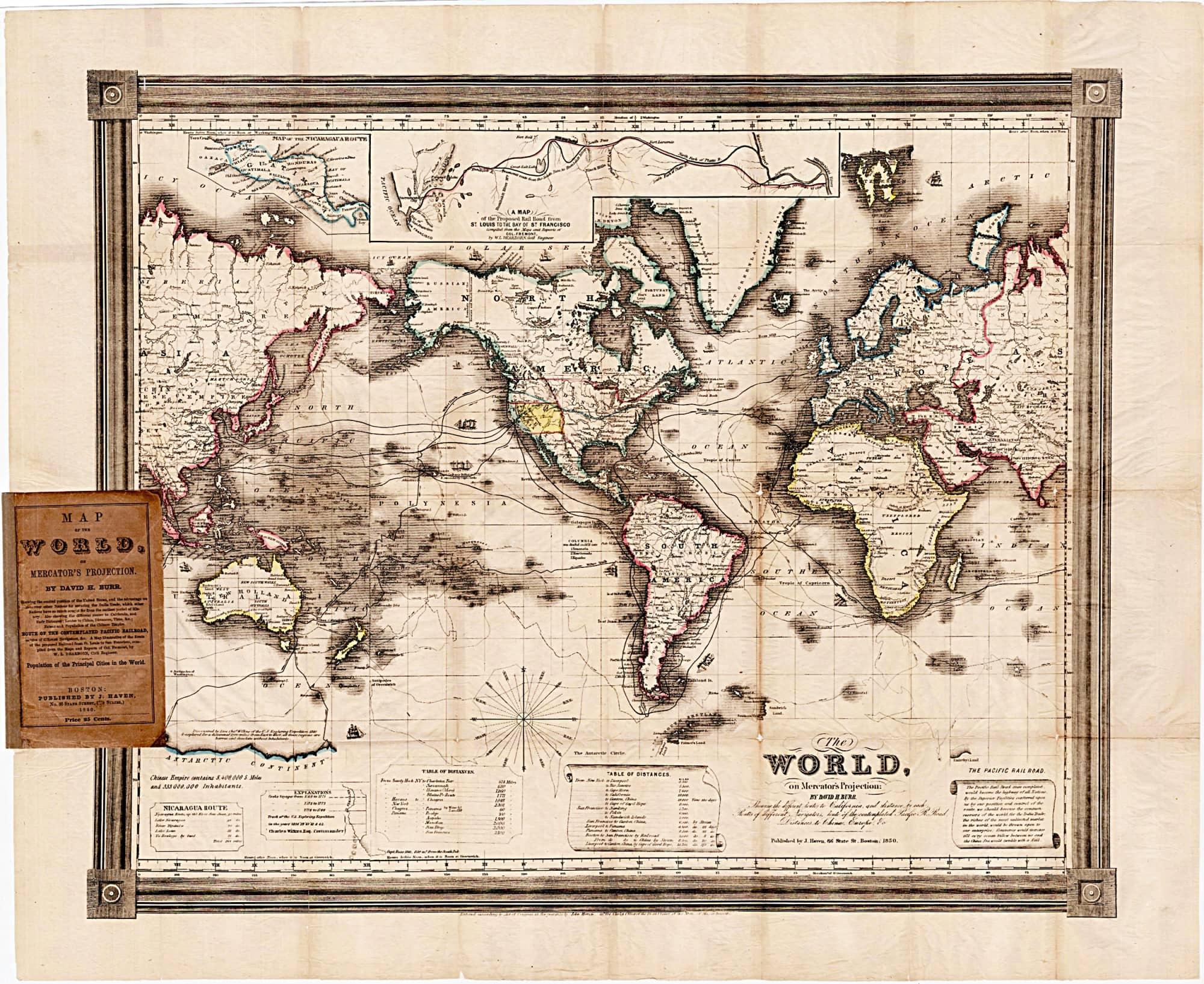 A Rare Gold Rush Era Map Promoting A Transcontinental