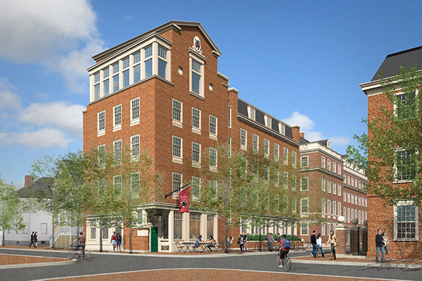Rendering by Beyer Blinder Belle As part of the Winthrop House renewal project, a new five-story addition will be named Robert M. Beren Hall to honor the Class of '47 alumnus and former Winthrop resident.