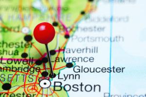 lynn massachusetts on a map
