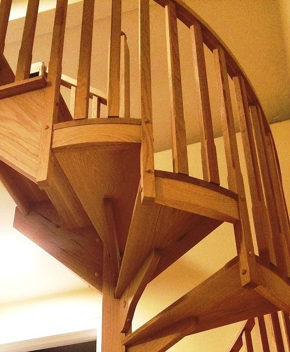 Wood Spiral Stairs In Boston Boston Stair   Wooden Spiral Stairs Design   Different Style   Circular   Curved   Space Saving   Easy Diy