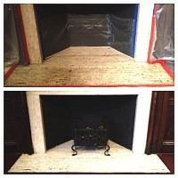 Fireplace Cleaning Before and After