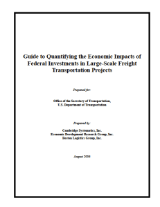 Guide to Investments in Large Scale Freight