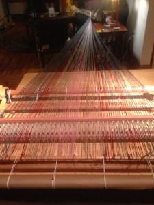 Warping Donegal Tweed on Rigid Heddle loom