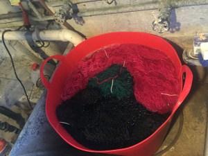 Greek Icelandic sweater yarn in final bath