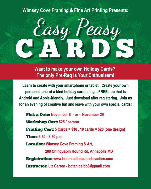 Easy Peasy Card workshop