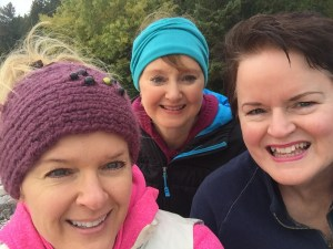 My sisters and I on a Mackinac hike. I'm in the blue headband.