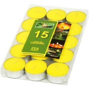 Pacote com 15 velas rechaud citronela – Ref. 2030