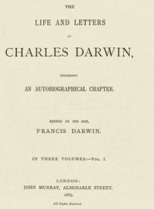 Image: Francis Darwin, The Life and Letters of Charles Darwin (1887).