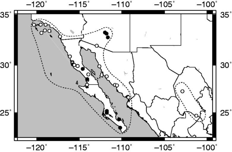 Populations of <em>Lycium californicum</em>