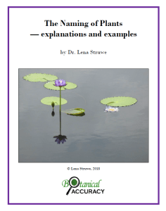 Manual The Naming Of Plants Explanations And Examples By Lena