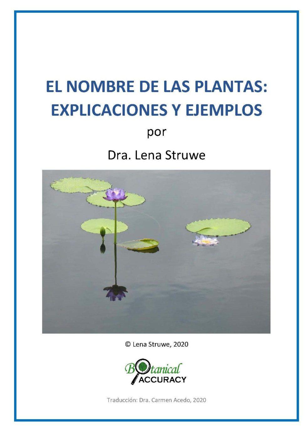 cover image for Struwe (2020) El Nombre de las Plantas v 1.1
