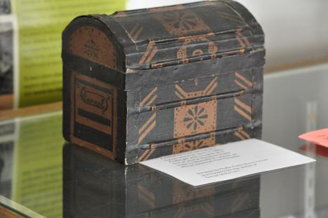 Handmade African-American Miniature Trunk from the 1900