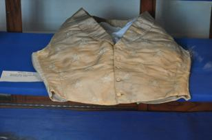 .Men's silk vest, worn by John Gray, High Sherif of Botetourt county