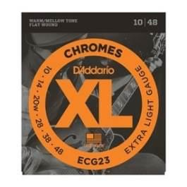 D'Addario ECG23 CHROMES FLAT WOUND ELECTRIC GUITAR STRINGS