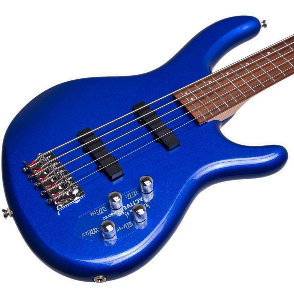 cort action bass v plus metallic blue 5 string active electric bass guitar paul bothner music. Black Bedroom Furniture Sets. Home Design Ideas