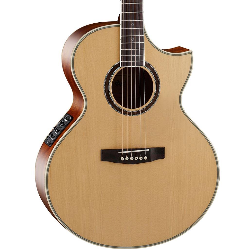 cort ndx baritone nat acoustic electric baritone guitar solid spruce top paul bothner music. Black Bedroom Furniture Sets. Home Design Ideas