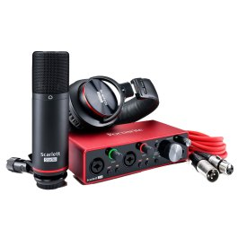 Focusrite Scarlett 2I2 STUDIO Version 3  Studio Pack