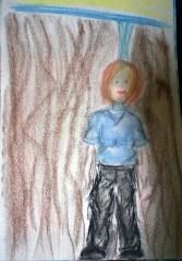 random art therapy piece