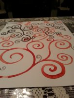 more spirals. watercolor on mixed media paper