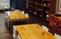 Pine classroom activity tables
