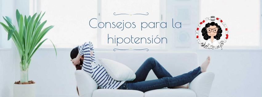 consejos para la hipotension