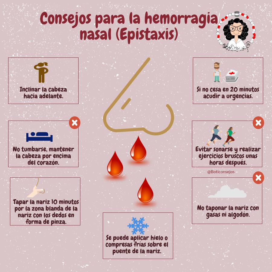 consejos para la hemorragia nasal