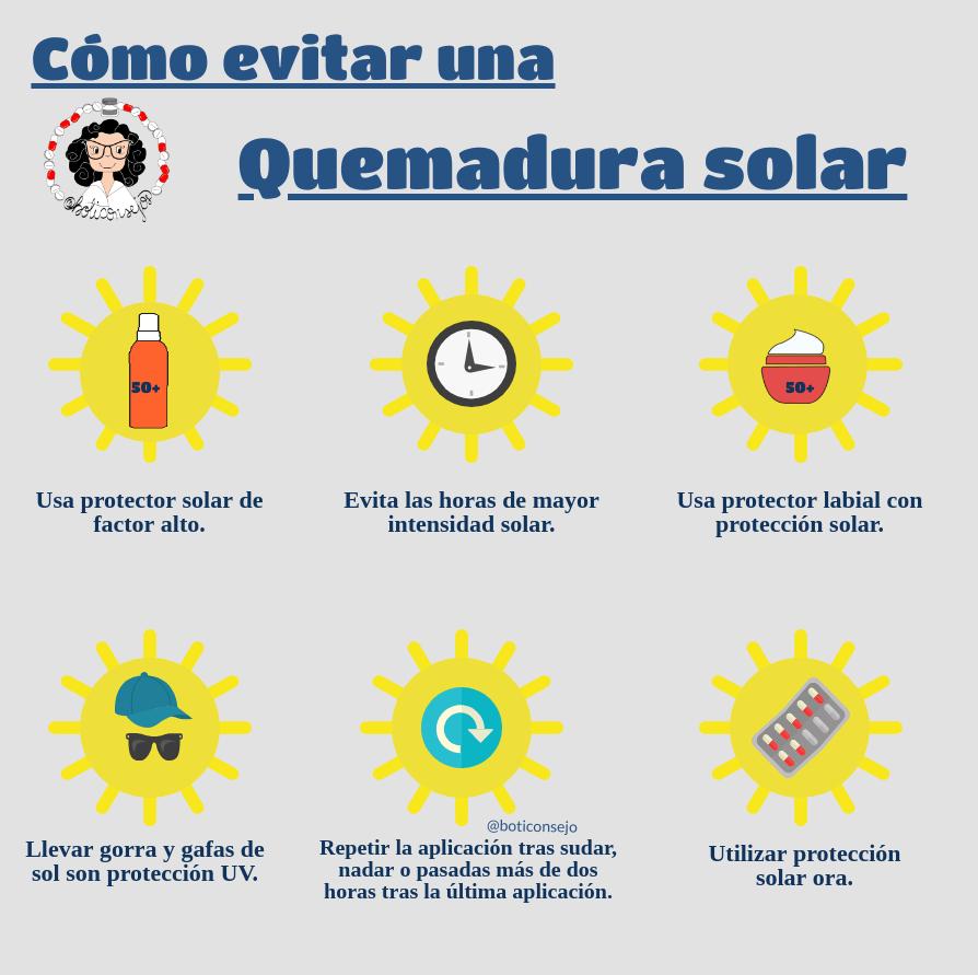 prevenir una quemadura solar