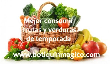 Beneficios de consumir frutas y verduras de temporada
