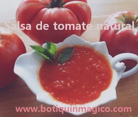 Salsa de tomate natural
