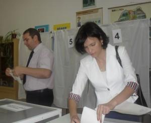 Sebastian Tocariu si sotia vot
