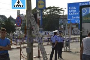 politisti stalp scara electric botosani
