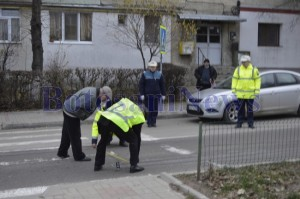 criminalisti si politisti trecere de pietoni accident